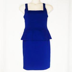 Eci New York Royal Blue Peplum Dress Size 10